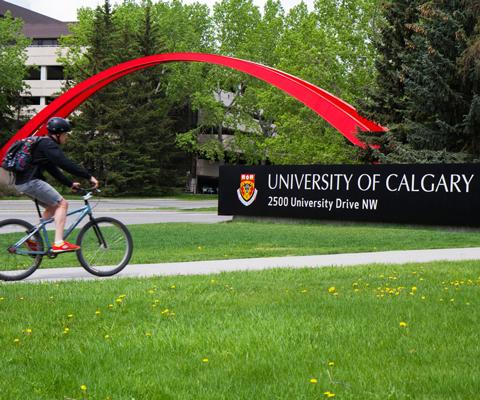 University of Calgary signage