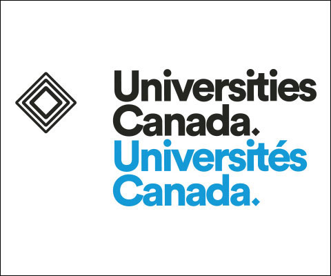 Universités Canada : logo bilingue.