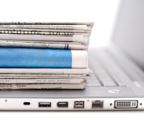 Journaux sur un portable