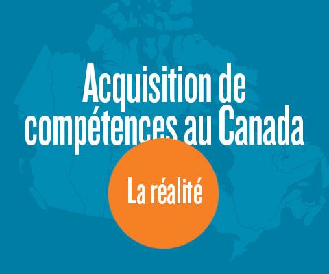 Carte du Canada : Acquisition de compétences au Canada - la réalité.