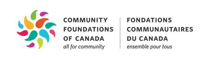 Fondations communautaires du Canada : logo bilingue.