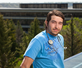 University of Lethbridge male nursing student