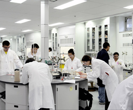 McGill students working in a chemistry lab
