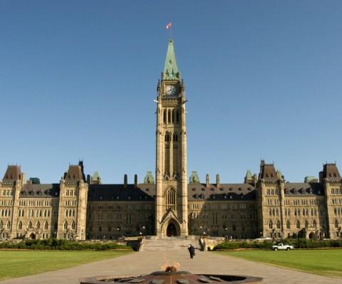 Vue du Parlement canadien.