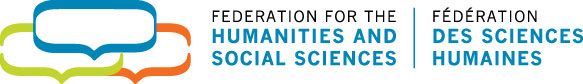 Federation for the humanities and social sciences bilingual logo.