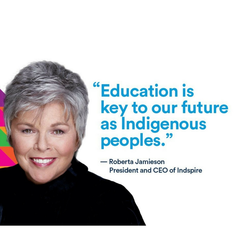 Roberta Jamieson quote: Education is key to our future a Indigenous peoples.