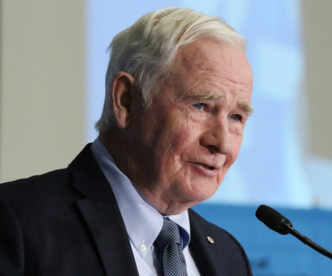 Son Excellence le très honorable David Johnston, gouverneur général du Canada, donne une allocution à Carrefour 2017.