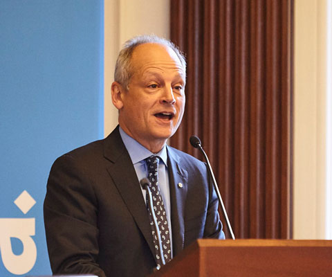 Meric Gertler, U of T president, speaking at a Universities Canada event.