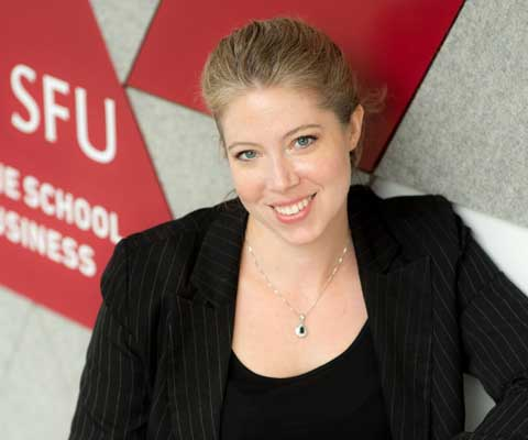 Sarah Lubik, director of entrepreneurship, Simon Fraser University.