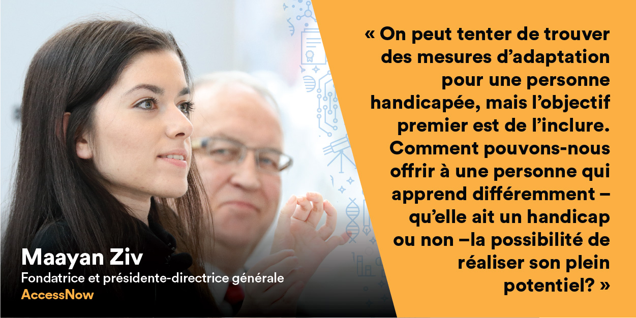 Maayan Ziv prend la parole au forum Univation.