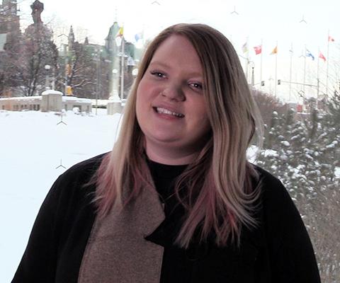 Ruby Barclay, étudiante, Vancouver Island University.