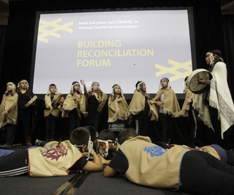 Indigenous participants at the National Reconciliation Forum