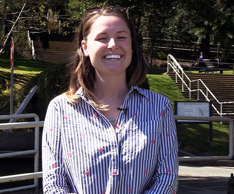 Tia Schaefer, Vancouver Island University student.