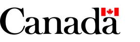 Logo du Gouvernement du Canada avec la feuille d'érable.