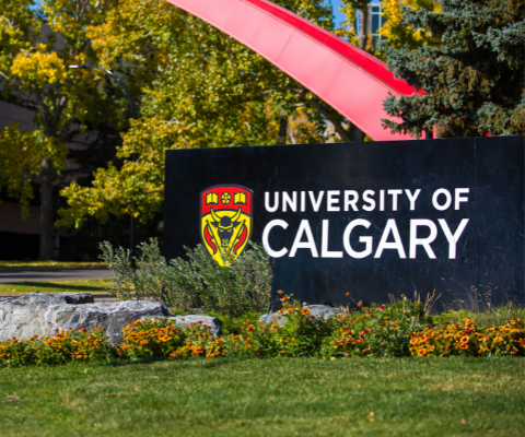 A sign that reads: University of Calgary